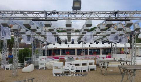 k-beach #k-beach, #kbeach_sanremo, kbeach sanremo, installazione tetto suono, tetto suono pixel-sound, pixelsound, tetto suono pixelsound